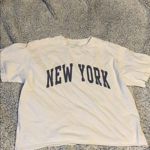 Brandy Melville New York Cropped TShirt